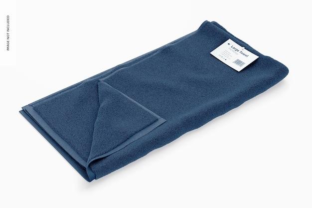 Large towel mockup