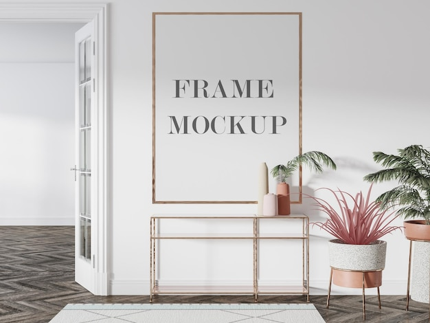 Large wall frame mockup