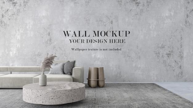 壁紙用の大きな壁のモックアップ