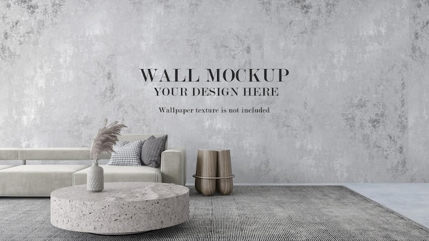 Large wall mockup for wallpapers