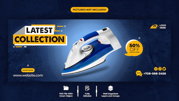 Latest collection promotion facebook cover template