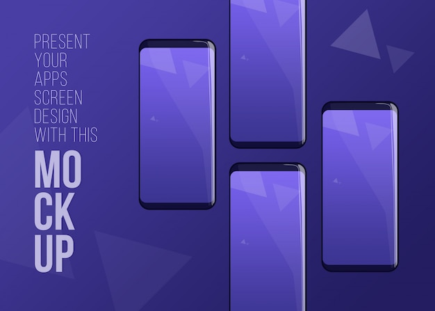 Последний телефон pro макет для презентации приложений экрана