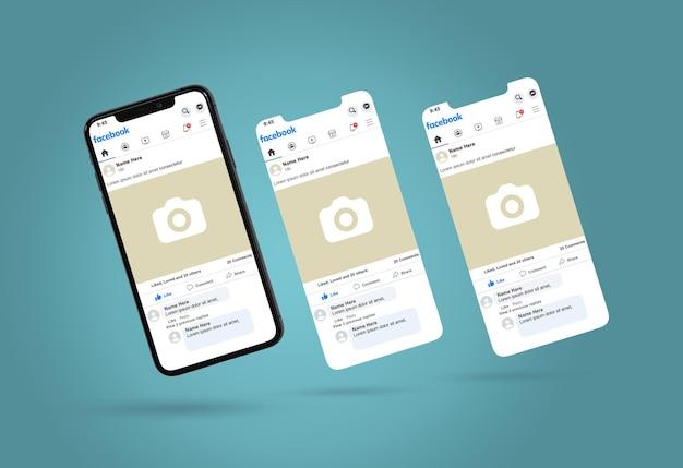 最新のスマートフォンプロモックアップデザイン
