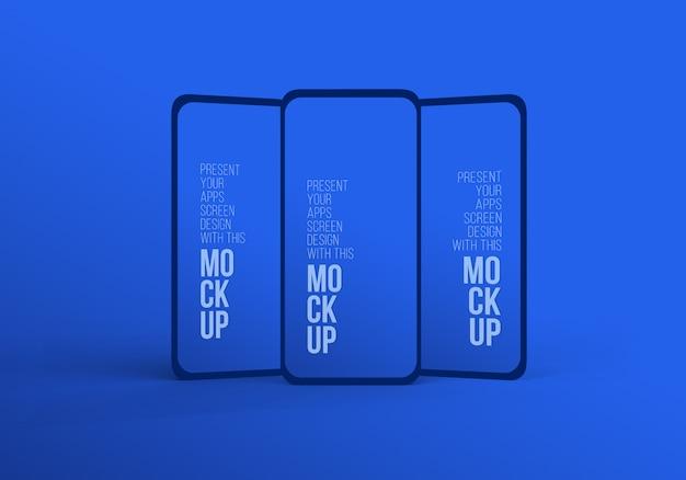 Последний смартфон для макета, чтобы представить произведение искусства premium psd