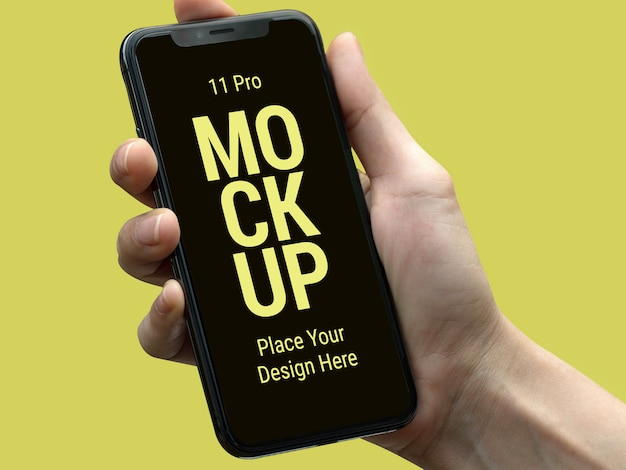 Latest smart phone pro mockup