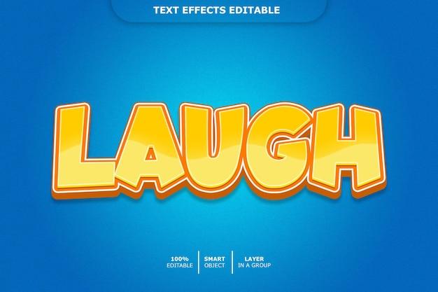 Laugh 3d text style effect