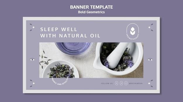 Lavender oil banner template