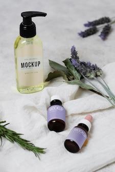 Lavender serum on table