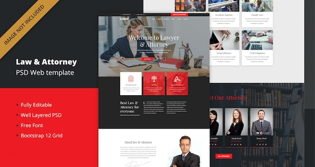 Law and attorney website template