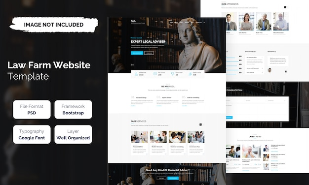Law farm and lawyer web template