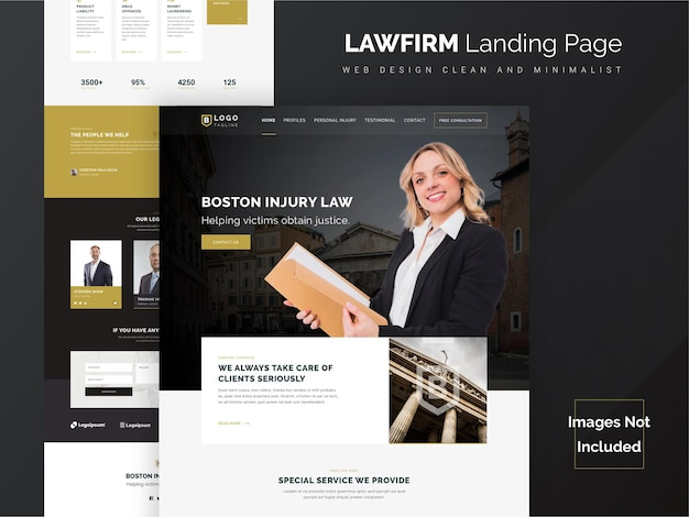 Law firm landing page website template
