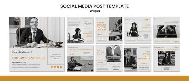 Law firm social media post template