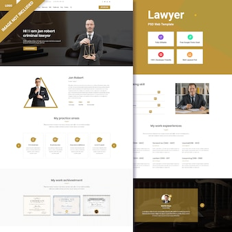 Law firm web interface design