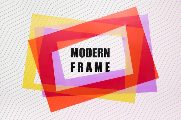 Layers of modern frames mock-up