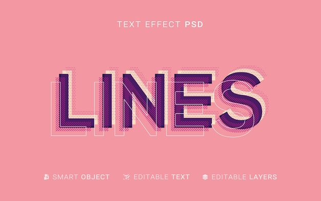 Layers text effect