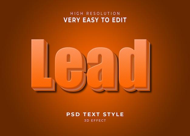 Lead 3d modern text effect