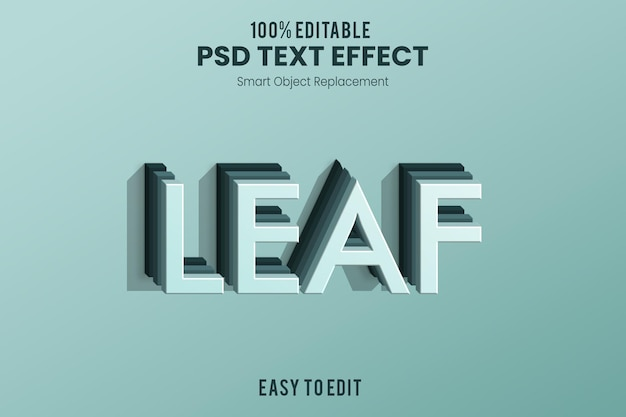 Leaf3d текстовый эффект
