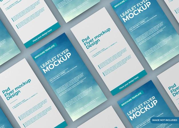 Leaflet flyer mockup design isolated