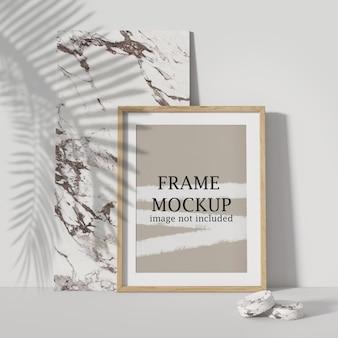 Leaning poster frame mockup