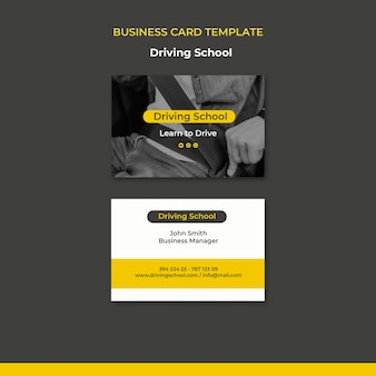 Learn to drive business card template