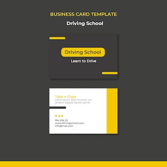 Learn to drive business card
