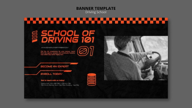 Learn to drive horizontal banner