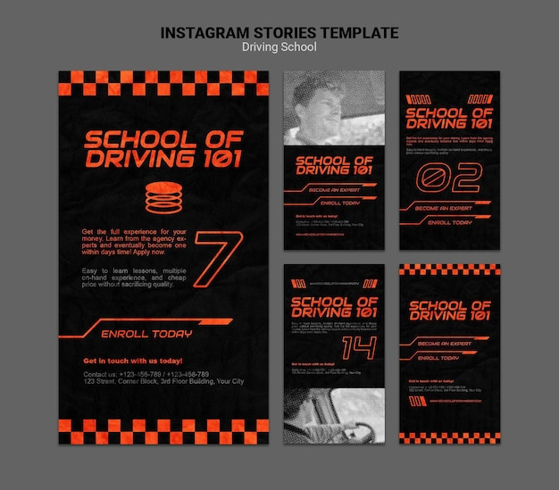 Learn to drive instagram stories