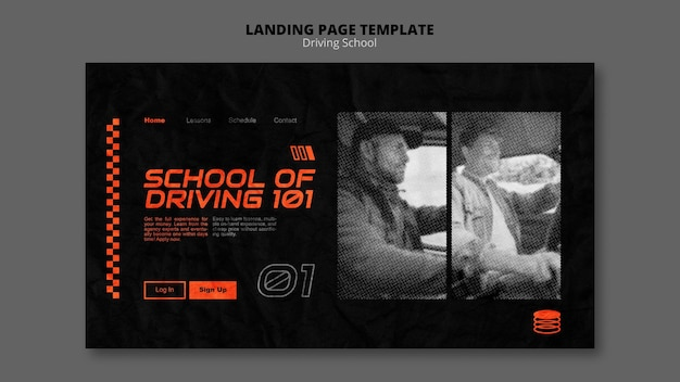 Learn to drive landing page