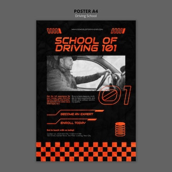 Learn to drive poster template