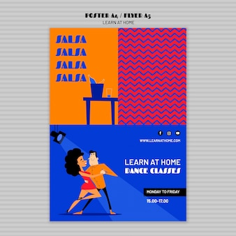 Learn at home poster template
