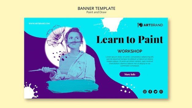 Learn to paint banner template
