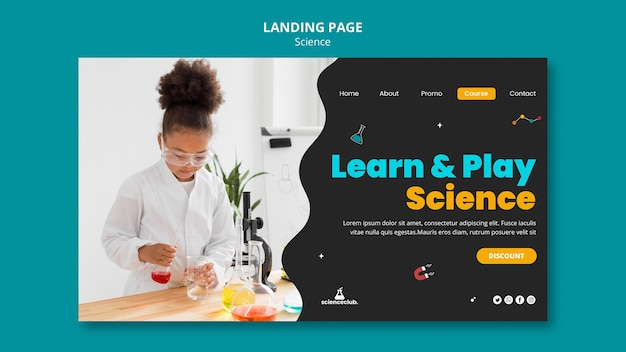 Шаблон целевой страницы изучения науки