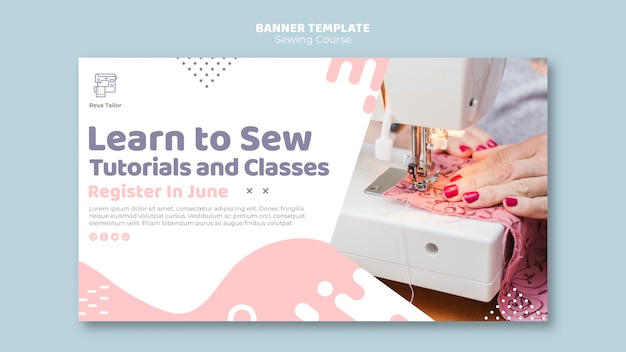 Learn to sew banner template