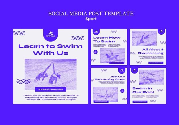 Impara a nuotare nei post sui social media