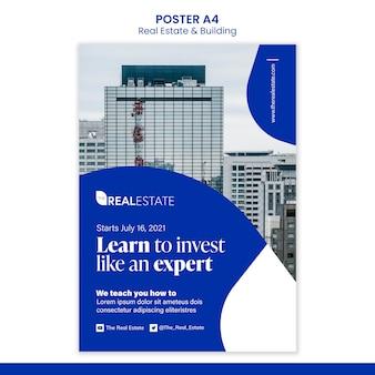 Научитесь инвестировать шаблон плаката
