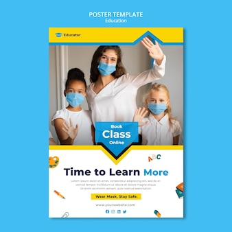 Learning concept poster template