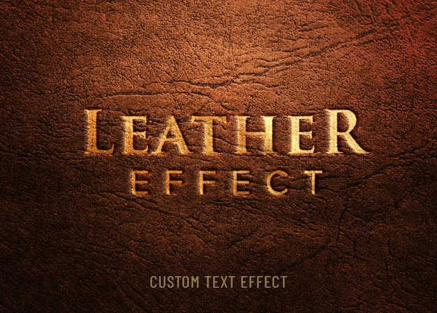 Leather emboss custom text effect