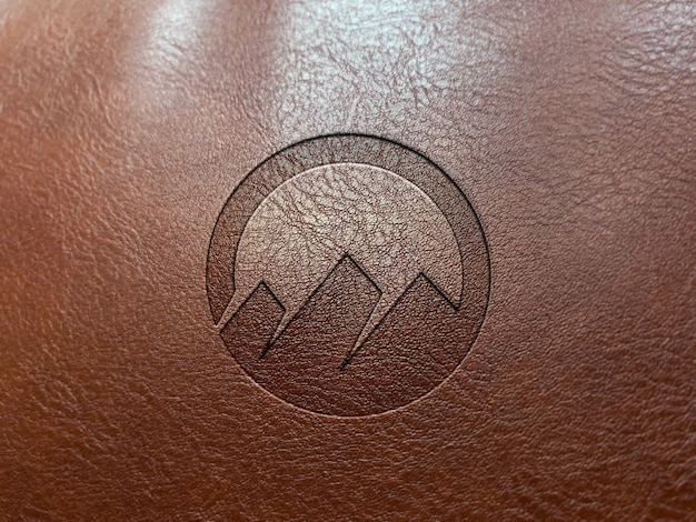 Кожаный тисненый логотип