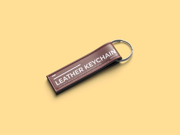 Leather keychain mockup template