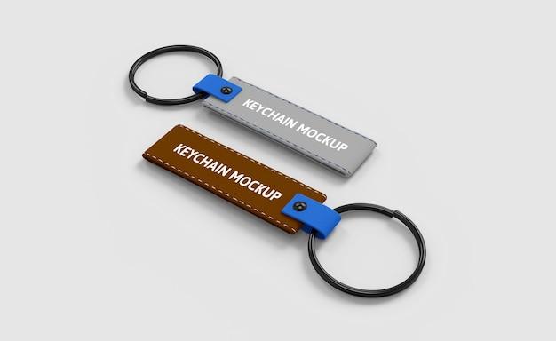 Leather keychain mockup