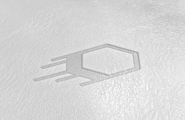 가죽 로고 엠보싱 효과 모형 현실