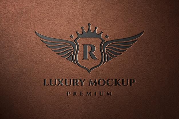 Кожаный макет с логотипом