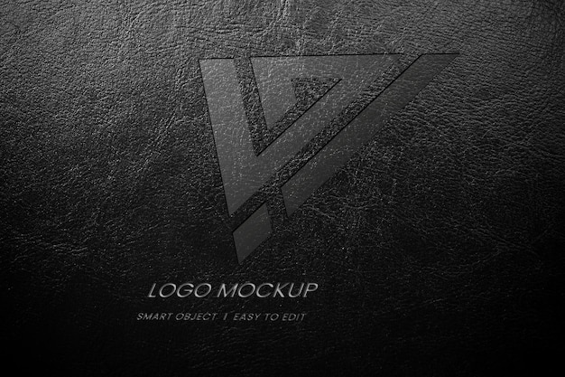 Leather logo mockup
