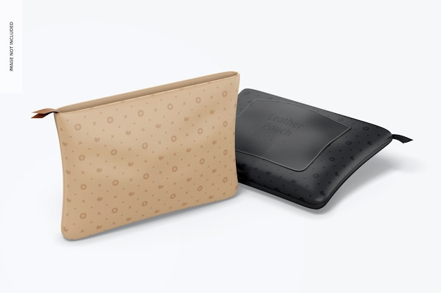 Leather pouches mockup