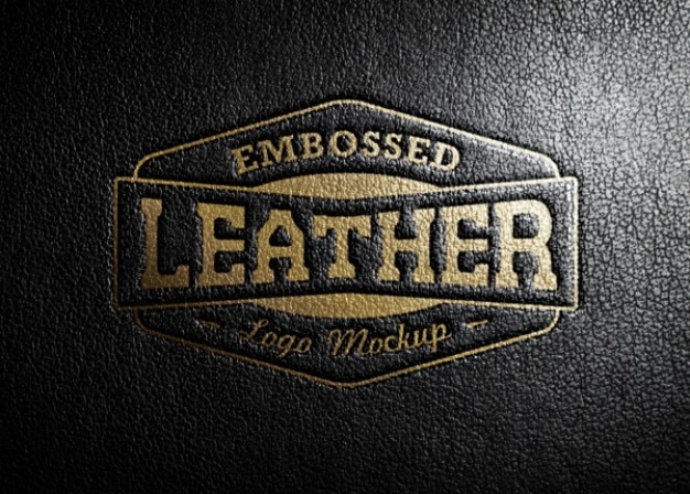 Leather stamping logo