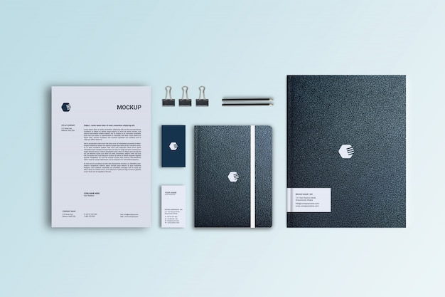Leather styles stationary mockup template