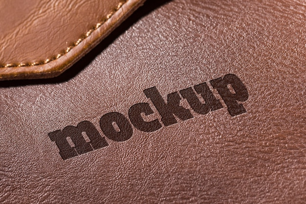 Leather surface mock-up