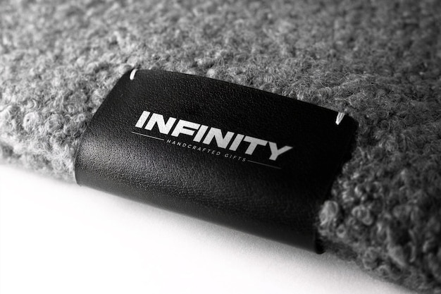 Leather tag logo mockup
