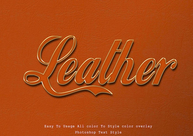 Leather text style effect