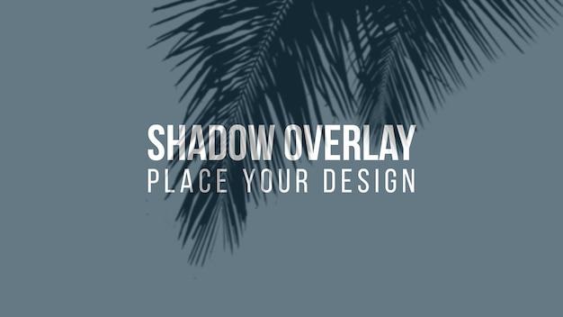 影のオーバーレイ効果の透明な概念を残します